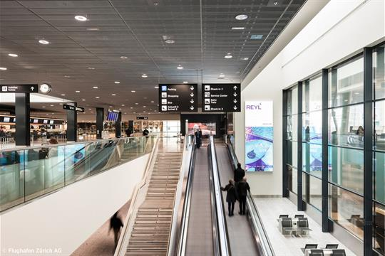 Check-in at Zurich Airport
